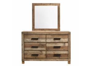 Image for Southco Distressed Rustic 6 Drawer Dresser & Mirror