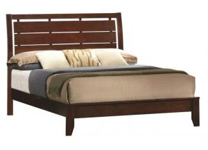 Contemporary Dark Brown Queen Bed
