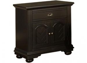 Elements Brook Black Nightstand