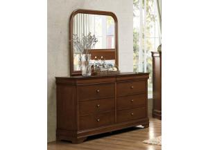 Homelegance Traditional Cherry Dresser and Mirror