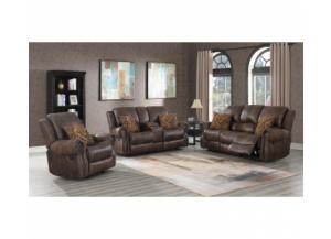 SouthCo Wyoming Mocha Reclining Loveseat