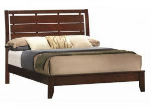 Contemporary Dark Brown Twin Bed