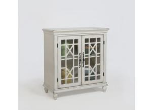 Francesca Ivory Accent Cabinet by Crown Mark