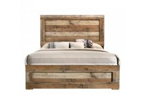 Image for Southco Distressed Rustic Panel Bed Queen Size