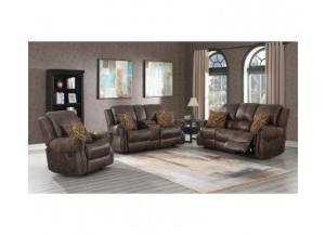SouthCo Wyoming Mocha Reclining Sofa