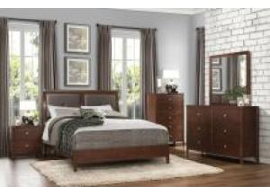 Homelegance Cullen Collection King Upholstered Panel Bed