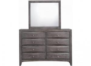 Elements Emily Grey Dresser & Mirror