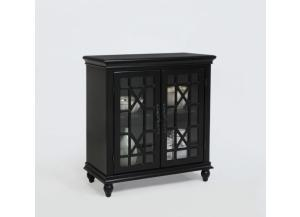 Francesca Black Accent Cabinet by Crown Mark