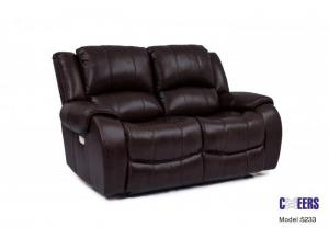 Cheers Leather Power Loveseat