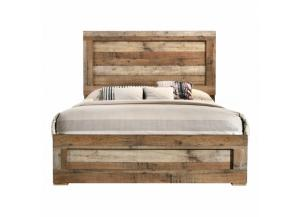Image for Southco Distressed Rustic Panel Bed Full Size