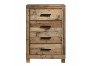 Image for Southco Distressed Rustic 4 Drawer Chest