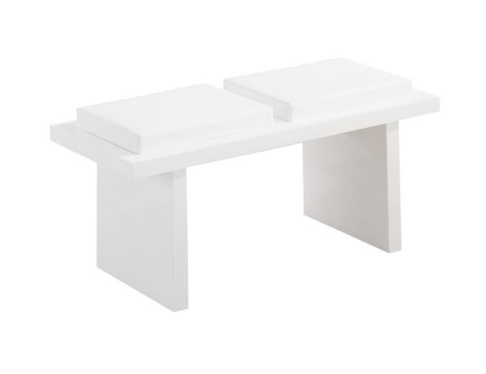 Global Furniture DG020 White Side Bench,Global Furniture