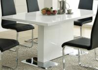Image for Coaster White Dining Table With Chrome Base
