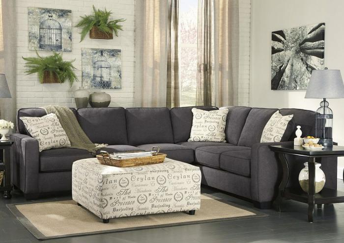 Alenya Charcoal 3-pc Sectional,ASHUM