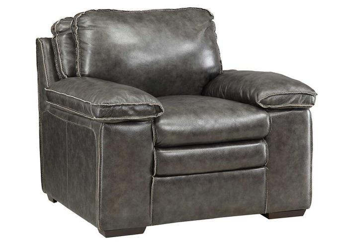 Regalvale Charcoal Leather Chair,COAUM