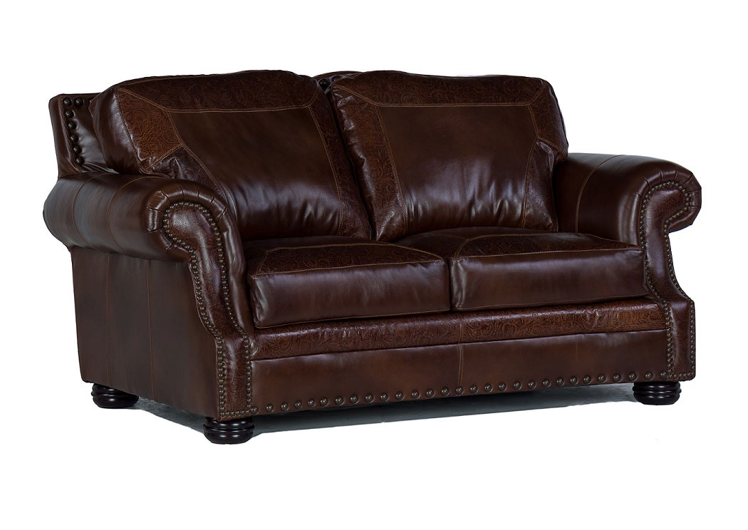 Wondrous Underpriced Furniture Paisley Leather Loveseat Alphanode Cool Chair Designs And Ideas Alphanodeonline