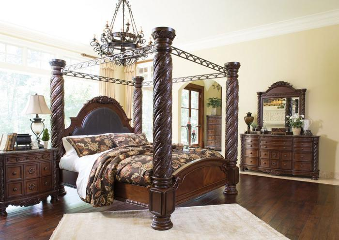Underpriced Furniture North Shore King Canopy Bedroom Set