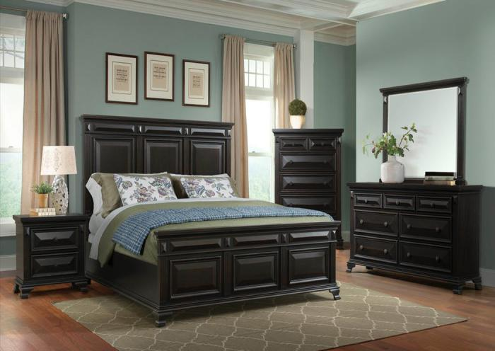 Underpriced Furniture Calloway Black King Bedroom Set