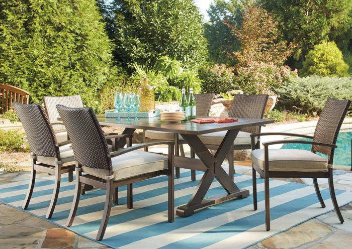 Moresdale Outdoor Dining Set,ASHUM
