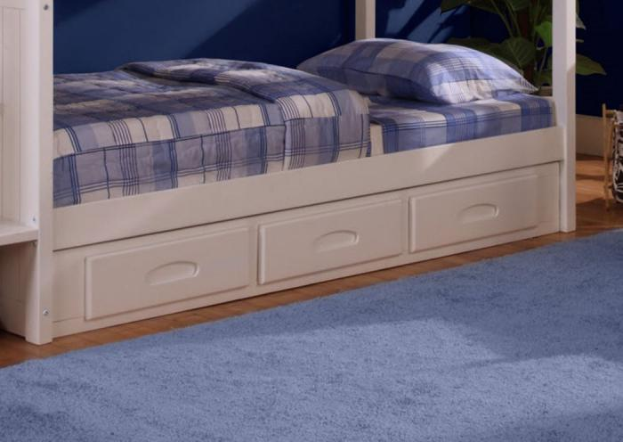 White Bunkbed Drawer Base,DWFUM
