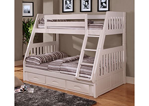 White Twin Over Full Bunkbed We Offer Kids Bunk Beds \u0026 Loft Your Child Will Love