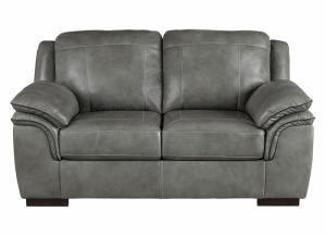 Islebrook Iron Leather Loveseat,ASHUM