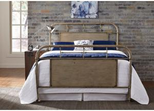 Vintage Metal White Queen Bed,LIBUM