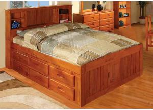 Honey Full Bookcase Bed