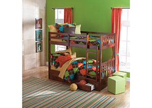 Merlot Twin over Twin bunk bed