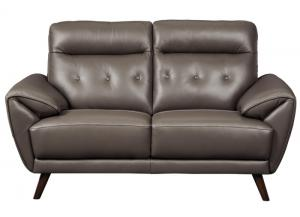 Sissoko Leather Loveseat