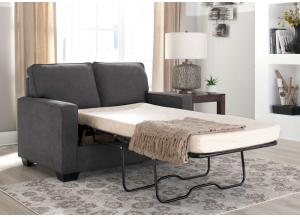Zeth Charcoal Twin Sleeper Sofa