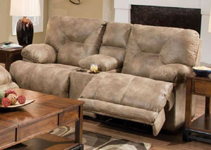 Voyager Brandy Reclining Loveseat
