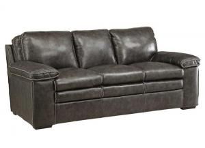 Regalvale Charcoal Leather Sofa