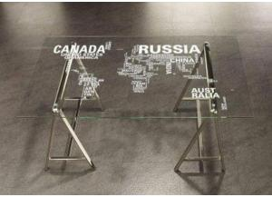 World Map Writing Desk