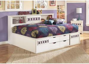 Zayley Full Bookcase Bed