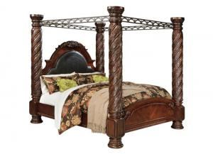North Shore King Canopy Bed,ASHUM