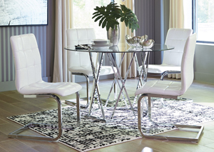 Madanere White Dining Set