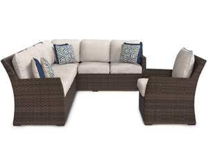 Salceda Sectional w/ Chair