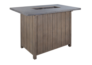 Partanna Fire Pit Bar Table