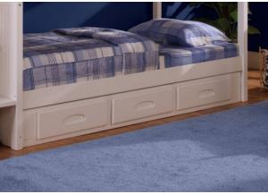 White Bunkbed Drawer Base