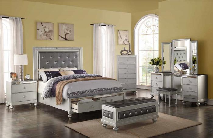 United Home Furniture Queen bed frame Vanity Dresser Vanity ...