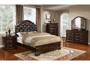 Portofino King Panel Bed, Dresser, Mirror, Nightstand