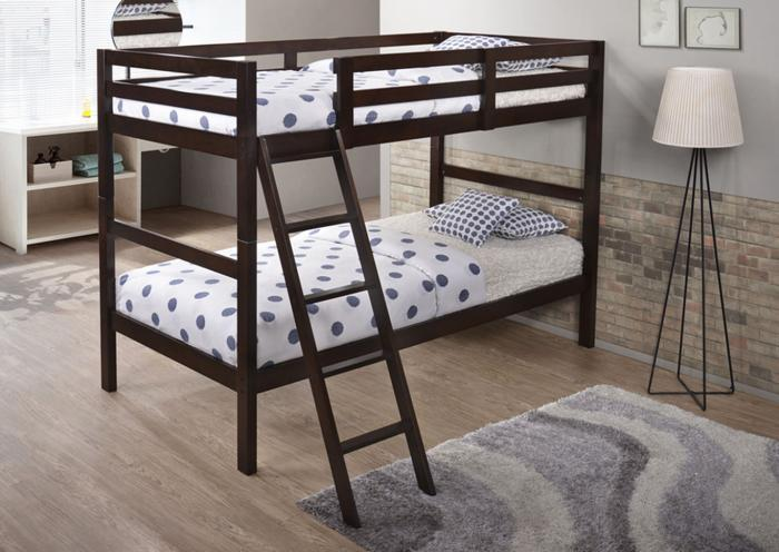 <Twin Over Twin Bunk Bed