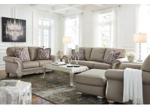 Gailian Smoke Sofa & Loveseat + FREE Verickam Silver Occasional Table Set & FREE 15 ft Pool