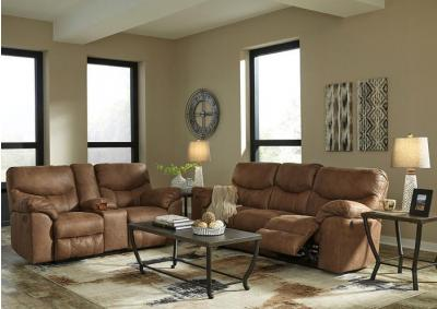 Boxberg Brown Reclining Sofa, Loveseat and Power Recliner PLUS FREE TV