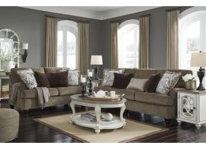 Braemar Brown Sofa and Loveseat + FREE $100 Prepaid Mastercard