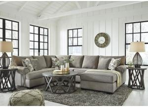 Renchen Gray Sectional PLUS FREE TV