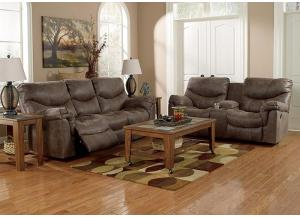 Alzena Gunsmoke Reclining Sofa & Loveseat + FREE Recliner & FREE 15 ft Pool