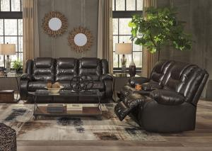 Vacherie Brown Reclining Sofa and Loveseat PLUS FREE TV