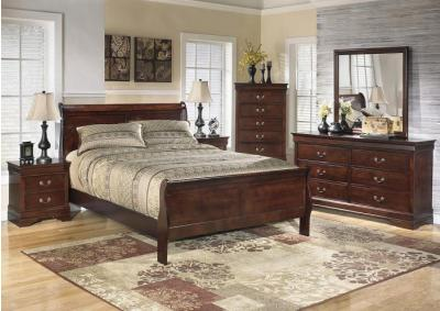 Alisdair King Sleigh Bed w/Dresser, Mirror & Chest + FREE Nightstand